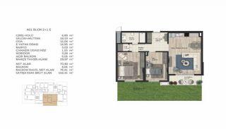 Недвижимость в Стамбуле в Комплексе Семейного Типа, Планировка -8