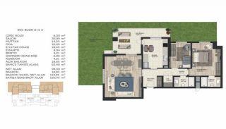 Недвижимость в Стамбуле в Комплексе Семейного Типа, Планировка -9