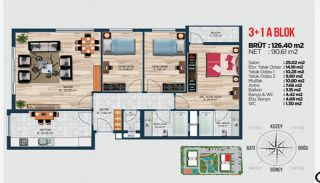 Квартиры для Инвестиций в Стамбуле Рядом с Басын Экспресс, Планировка -1