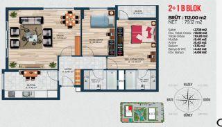 Квартиры для Инвестиций в Стамбуле Рядом с Басын Экспресс, Планировка -2