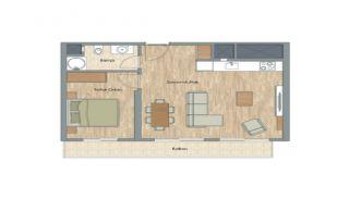 Appartementen dicht bij het Aydos-bos in Kartal Istanbul, Vloer Plannen-1