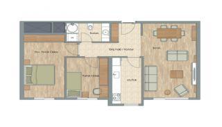 Appartementen dicht bij het Aydos-bos in Kartal Istanbul, Vloer Plannen-4