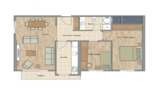 Appartementen dicht bij het Aydos-bos in Kartal Istanbul, Vloer Plannen-5