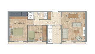 Appartementen dicht bij het Aydos-bos in Kartal Istanbul, Vloer Plannen-6