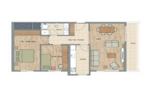 Appartementen dicht bij het Aydos-bos in Kartal Istanbul, Vloer Plannen-8