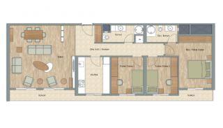 Appartementen dicht bij het Aydos-bos in Kartal Istanbul, Vloer Plannen-9