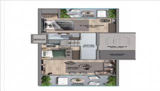 Квартиры с Видом на Море в Комплексе в Стамбуле Бююкчекмедже, Планировка -1
