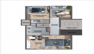 Квартиры с Видом на Море в Комплексе в Стамбуле Бююкчекмедже, Планировка -2