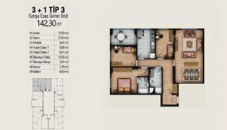 Современные Квартиры с Видом на Город в Стамбуле, Умрание, Планировка -2