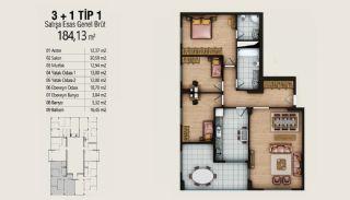 Современные Квартиры с Видом на Город в Стамбуле, Умрание, Планировка -6