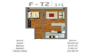 Moderne Immobilien in einem sicheren Komplex in Istanbul, Immobilienplaene-1