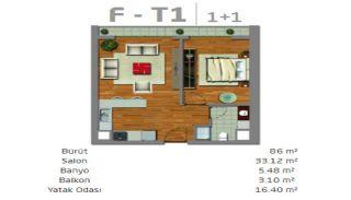Moderne Immobilien in einem sicheren Komplex in Istanbul, Immobilienplaene-2