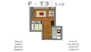 Moderne Immobilien in einem sicheren Komplex in Istanbul, Immobilienplaene-3