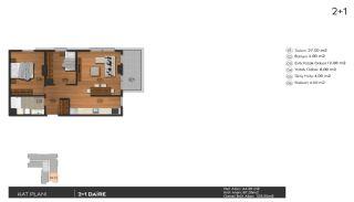 Investering lyxiga lägenheter att köpa i Istanbul Kagıthane, Planritningar-4