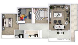 Familienkonzept-Wohnungen in einem Komplex mit Pool in Istanbul, Immobilienplaene-1