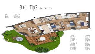 Элитные Квартиры в Стамбуле, Умрание с Видами на Город, Планировка -10