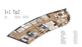 Элитные Квартиры в Стамбуле, Умрание с Видами на Город, Планировка -12