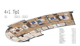 Элитные Квартиры в Стамбуле, Умрание с Видами на Город, Планировка -14