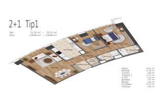 Элитные Квартиры в Стамбуле, Умрание с Видами на Город, Планировка -5