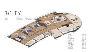 Элитные Квартиры в Стамбуле, Умрание с Видами на Город, Планировка -8