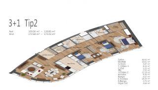 Элитные Квартиры в Стамбуле, Умрание с Видами на Город, Планировка -9