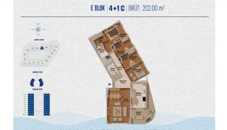 Элитные Квартиры в Стамбуле Рядом с Морем и Портом для Яхт, Планировка -1