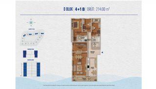 Элитные Квартиры в Стамбуле Рядом с Морем и Портом для Яхт, Планировка -2