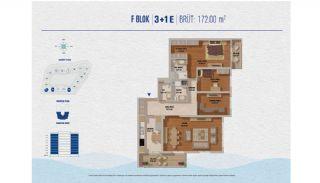 Элитные Квартиры в Стамбуле Рядом с Морем и Портом для Яхт, Планировка -4