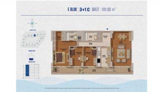 Элитные Квартиры в Стамбуле Рядом с Морем и Портом для Яхт, Планировка -5