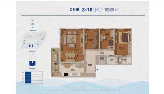 Элитные Квартиры в Стамбуле Рядом с Морем и Портом для Яхт, Планировка -6