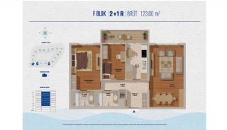 Элитные Квартиры в Стамбуле Рядом с Морем и Портом для Яхт, Планировка -7