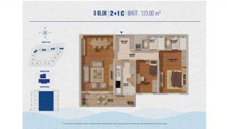 Элитные Квартиры в Стамбуле Рядом с Морем и Портом для Яхт, Планировка -9
