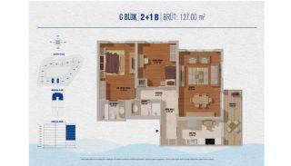 Элитные Квартиры в Стамбуле Рядом с Морем и Портом для Яхт, Планировка -10