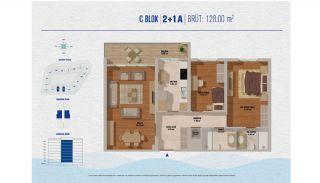 Элитные Квартиры в Стамбуле Рядом с Морем и Портом для Яхт, Планировка -11