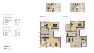Duplex Apartment for Sale in Istanbul with Bosphorus View, Property Plans-1