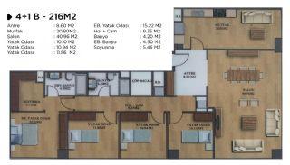 Квартиры в Элитном Комплексе Рядом с Метро в Стамбуле, Планировка -1