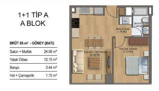 Квартиры в Элитном Комплексе Рядом с Метро в Стамбуле, Планировка -10