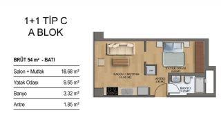Квартиры в Элитном Комплексе Рядом с Метро в Стамбуле, Планировка -11