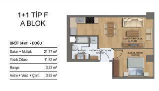 Квартиры в Элитном Комплексе Рядом с Метро в Стамбуле, Планировка -12