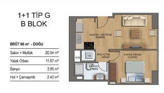 Квартиры в Элитном Комплексе Рядом с Метро в Стамбуле, Планировка -13