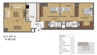 Квартиры в Элитном Комплексе Рядом с Метро в Стамбуле, Планировка -3