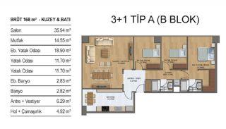 Квартиры в Элитном Комплексе Рядом с Метро в Стамбуле, Планировка -4