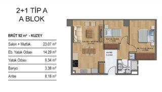 Квартиры в Элитном Комплексе Рядом с Метро в Стамбуле, Планировка -5