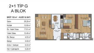 Квартиры в Элитном Комплексе Рядом с Метро в Стамбуле, Планировка -6