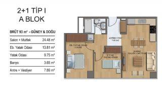 Квартиры в Элитном Комплексе Рядом с Метро в Стамбуле, Планировка -8