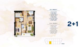 Квартиры с Видом на Море в Комплексе в Стамбуле, Бейликдюзю, Планировка -2