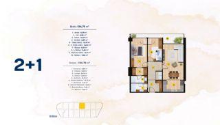 Квартиры с Видом на Море в Комплексе в Стамбуле, Бейликдюзю, Планировка -3