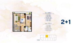 Квартиры с Видом на Море в Комплексе в Стамбуле, Бейликдюзю, Планировка -4