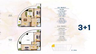 Квартиры с Видом на Море в Комплексе в Стамбуле, Бейликдюзю, Планировка -5
