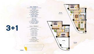 Квартиры с Видом на Море в Комплексе в Стамбуле, Бейликдюзю, Планировка -6